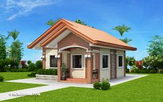 Embrace the simplicity and beauty of a new model showcased by this Remedios - Beautiful Single Story Residential House designed with an area of 48 m² only. 3 Storey House Design, Wooden House Design, Simple House Design, House Front Design, Wooden Houses, House Designs In Kenya, Cool House Designs, Bungalow Designs, Philippines House Design