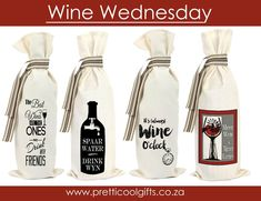 The perfect gift for any wine lover. pure cotton gift bags for wine bottles Wine Wednesday, Wine Lover, I Cool, Wine Bottles, 100 Pure, Gift Bags, Face Masks, Wines, Custom Design