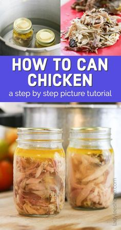 Canning chicken meat at home is pretty simple. There are a few different ways to do it. In this post, we will go over how to can chicken three different ways and then I'll show you step by step how I do this. At the end of this post, I have the canning chicken printable for you. Fresh Chicken, Canned Chicken, Leftover Turkey, Meat Chickens, Venison, Preserving Food, Canning Recipes, Recipe Using, Preserves