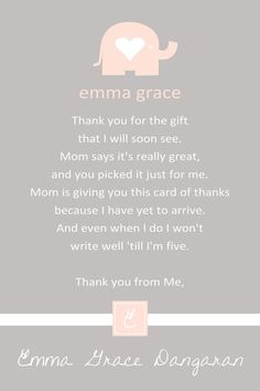 1760 Best Baby Shower Thank You Cards Images On Pinterest Baby