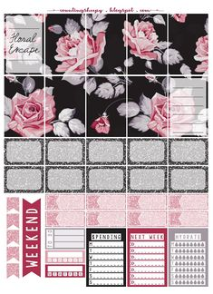 Counting Sheepy: Free Planner Printables - Floral Escape