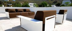 Lounge Furniture, Modern Furniture, Outdoor Furniture Sets, Furniture Design, Minimalist Design, Modern Design, Modern Mailbox, Outdoor Sofa, Outdoor Decor