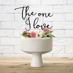 "Cake Topper ""The one I love"" - 8,90€ Hochzeit Wedding"