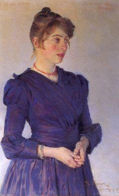 Portrait of Marie Kroyer by Peder Severin Kroyer