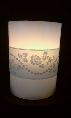 Items similar to Handmade Parchment Paper Flowery Candle Wrap for Flameless Candle on Etsy Flameless Candles, Parchment Paper, Soaps, Trust, Table Lamp, Craft Ideas, Cook, Skinny, Crafty