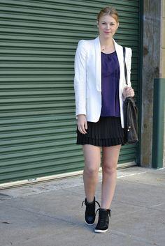 Britt+Whit: Whit's skirt and blazer look!