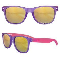 Purple & Pink Two Tone Wayfarer Sunglasses - Yellow Color Mirror Lens 2158RV . $5.97. Save 76% Off! Wayfarer Sunglasses, Sunglasses Women, Sunglasses Accessories, Women Accessories, Blue Orange, Eyeglasses, Lens, Glasses, Women's Accessories