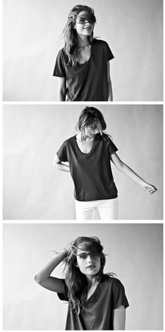 Some outtakes from our U Neck Tee shoot with Ana Kras.  Fitted like the Ryan, it's made from 100% supima cotton and arrives next week.