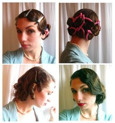 A Marcel Wave 27 Gorgeously Dreamy Vintage-Inspired Hair Tutorials 1920s Hair Tutorial, Vintage Hairstyles Tutorial, 1940s Hairstyles, Diy Hairstyles, Hairstyle Tutorials, Pelo Vintage, Diy Vintage, Vintage Waves, Medium Long Hair