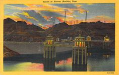 Sunset at Hoover Dam