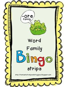 -ore Word Bingo Strips-FREEBIE