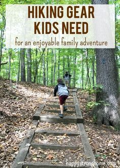 Hiking gear kids need for enjoyable family adventures - pack well and wisely with packing guide for a fun kid's hike! Eco-friendly gear and  more ideas for fun and safe hiking! #ad via @juliekieras