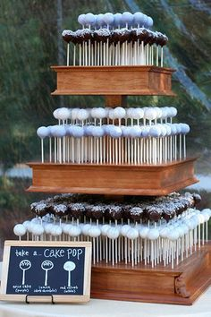 This cake pop tower is so much more fun than a wedding cake | Sweet Lauren Cakes