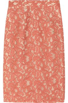 Oh, I want this. Moschino Cheap and Chic Lace pencil skirt