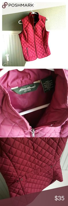 Eddie Bauer Vest! Selling a great condition Eddie Bauer Vest! Can adjust in back, small in size. Eddie Bauer Jackets & Coats Vests