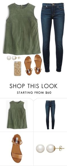 """""""fact: everything is funnier when you're not allowed to laugh"""" by payton-anne ❤ liked on Polyvore featuring J.Crew, Hudson, Steve Madden, Honora and Case-Mate"""