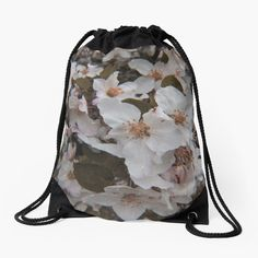 Backpack Bags, Drawstring Backpack, White Springs, Spring Blossom, Woven Fabric, Backpacks, Classic, Prints