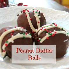 Delicious and easy Peanut Butter Balls, great from Christmas or any time of the year!  #peanutbutter #recipes #Christmascookies