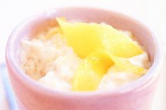 Luke Mangan& Seminyak diner Salt Tapas, dishes the fresh light dessert goods with this coconut rice and mango sorbet recipe. Begin this recipe a day ahead. Coconut Rice, Canned Coconut Milk, Coconut Cream, Coconut Pudding, Rice Recipes, Sweet Recipes, Easy Recipes, Dinner Recipes, Dinner Ideas