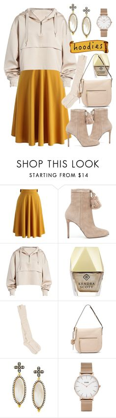 """""""In My Hood: Cozy Hoodies"""" by sonyastyle ❤ liked on Polyvore featuring Chicwish, MICHAEL Michael Kors, Ivy Park, Kendra Scott, PACT, Cole Haan, Freida Rothman and CLUSE"""