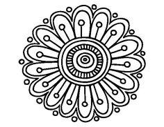Dibujo de Mandala margarita para Colorear