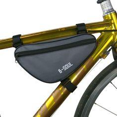 뜨거운 자전거 앞 가방 방수 야외 삼각형 자전거 프런트 튜브 프레임 가방 산악 자전거 파우치 자전거 프레임 가방 액세서리