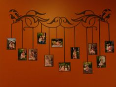 DIY painting alternative family tree wall display. Wonderful design and very practical for a hallway or vacant wall.