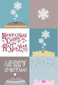 christmas stickers from yaelfran; etsy