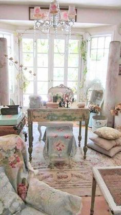 pink blue flowery goodness ~ rustic country