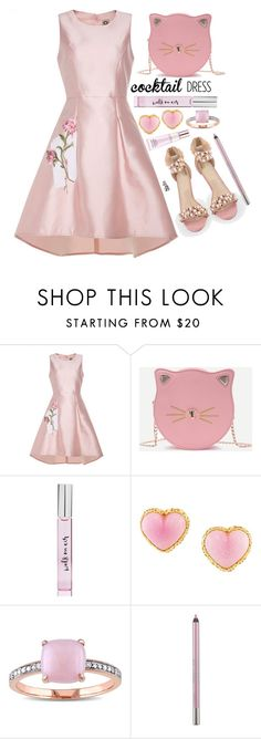 """""""Pink cocktail dress"""" by simona-altobelli ❤ liked on Polyvore featuring Kate Spade, Chanel, Miadora, Urban Decay and Estée Lauder"""