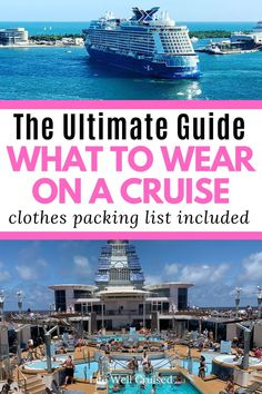 What To Wear on a Cruise Vacation (when dress codes are changing) - Life Well Cruised - - Everything you want to know about what to wear on a cruise. Get your cruise outfit planning list and recommendations for day, evening wear and formal wear. Honeymoon Cruise, Bahamas Cruise, Cruise Travel, Cruise Vacation, Vacation Wear, Disney Cruise, Crucero Royal Caribbean, Royal Caribbean Cruise, Cruise Ship Reviews