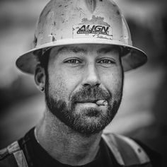 #construction worker portrait. #yyc #yql #makeportraits