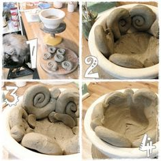 Garten-Keramik: ... wie macht man denn nur ...