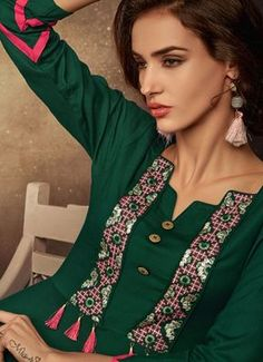 Women's kurtis online: Buy stylish long & short kurtis from top brands like BIBA, W & more. Explore latest styles of A-line, straight & anarkali kurtas. Neck Designs For Suits, Sleeves Designs For Dresses, Neckline Designs, Dress Neck Designs, Stylish Dress Designs, Collar Designs, Simple Kurti Designs, New Kurti Designs, Kurta Designs Women