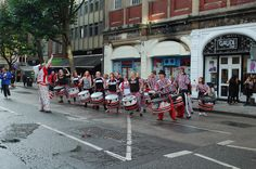 This is the Batala Band that was playing today.