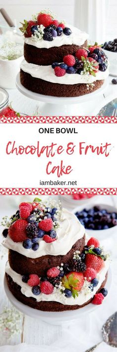 Delicious chocolate cake recipe with perfect whipped cream! Get this awesome recipe from iambaker.net!