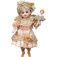 "Outstanding Large 9"" Kestner Wrestler Antique Doll from kathylibratysantiques on Ruby Lane"