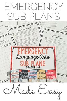 Never panic about missing school again!  10+ days of ELA work students will LOVE for grades 4-8