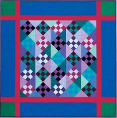 ~free~ quilt pattern: Amish Nine Patch, made with Kona cotton, at Robert Kaufman Fabrics