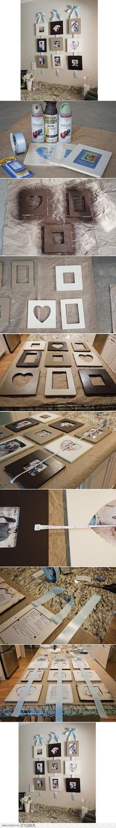 DIY Stylish Wall Photo Frame DIY Projects | UsefulDIY.c… na Stylowi.pl