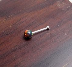 Opal nose pin w/ball endlabret jewelryIndian nose by artstudio88