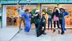L'équipe de La Nouvelle Mine, les gueules vertes super héros, photo Michel Dié