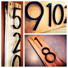Modern Black House Numbers on Salvaged by MidwestSalvageStudio, $25.00 This would be so cute outside!! Just don't know about dimensions..