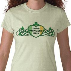 #Irish #Princess St. Patrick's Day #T-Shirt #stpatricksday #cute #jamiecreates1 #zazzle