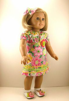 American Girl Doll Clothes Peasant Dress Bold by dressurdolly2, $17.00