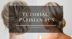 Create a Parisian Bun in 4 easy steps. Go and see the tutorial on MonStyle... | Parisian | Bun | Hair | Beauty | Tutorial | Easy | Quick |