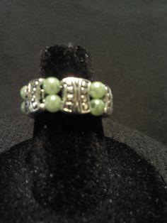 Green Ring. $5.00, via Etsy.
