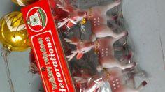 Vintage Reindeer Bells Original Unopened Pkg set of 3