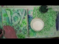 Joy page art journaling with Carolyn Dube