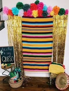 Mexican Sarape, Mexican Sarape Fabric, Cinco De Mayo Sarape – Let's party - Baby Shower Mexican Birthday Parties, Mexican Fiesta Party, Fiesta Theme Party, Taco Party, Fiesta Gender Reveal Party, Mexico Party Theme, Mexican Party Favors, Fiesta Games, Party Ideas For Teen Girls